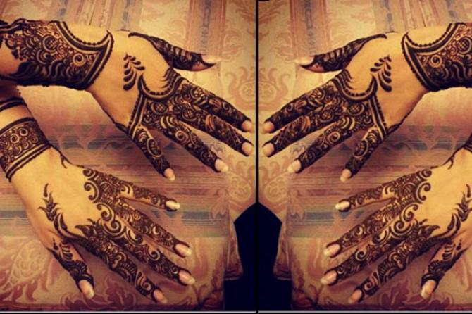 popular mehendi designs for karva chauth arabic