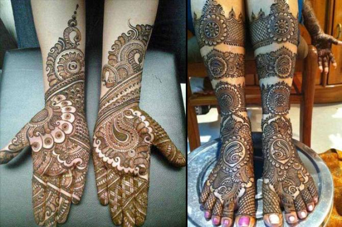 popular mehendi designs karva CHAUTH rajasthani