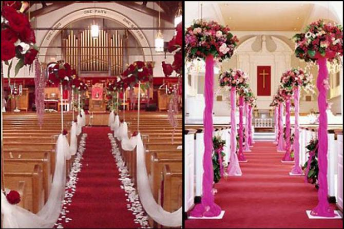 Decorate The Aisle Church Wedding Decor