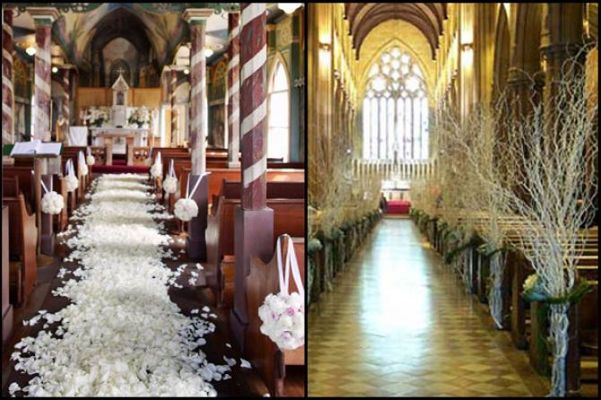 Church wedding decor ideas bollywoodshaadis church wedding decor junglespirit Choice Image
