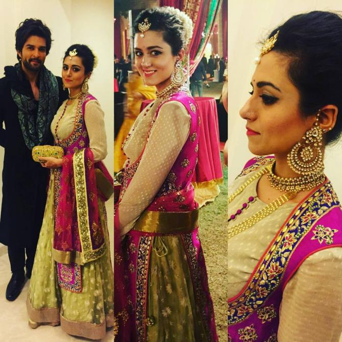Ridhi Dogra Raqesh Bapat at Arun Jaitley's daughter's wedding