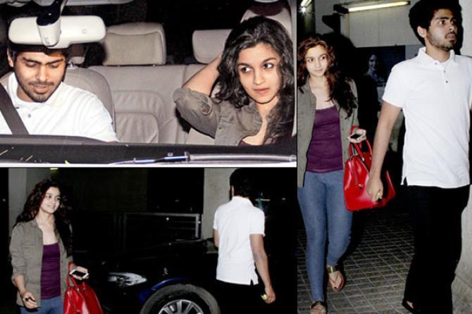 Alia Bhatt and Ali Dadarkar