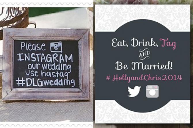 Image Courtesy We Heart Photography Left Etsy Right A Wedding Hashtag