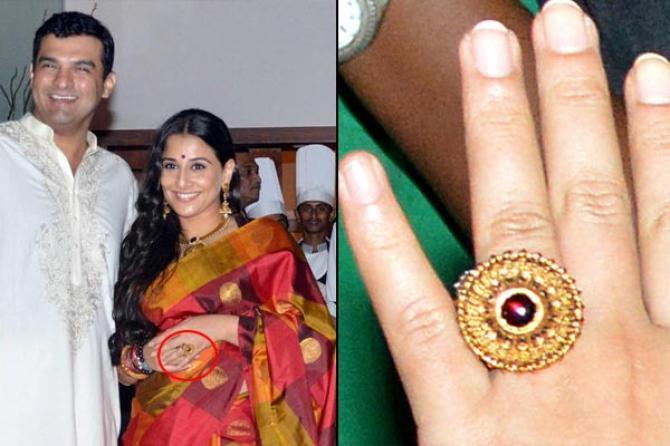 bollywood actresses Vidya Balan engagement ring