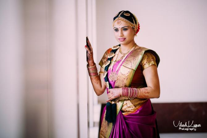 ethnic tamil wedding look details- BollwyoodShaadis