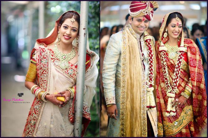 ethnic gujarati bridal look details- BollwyoodShaadis