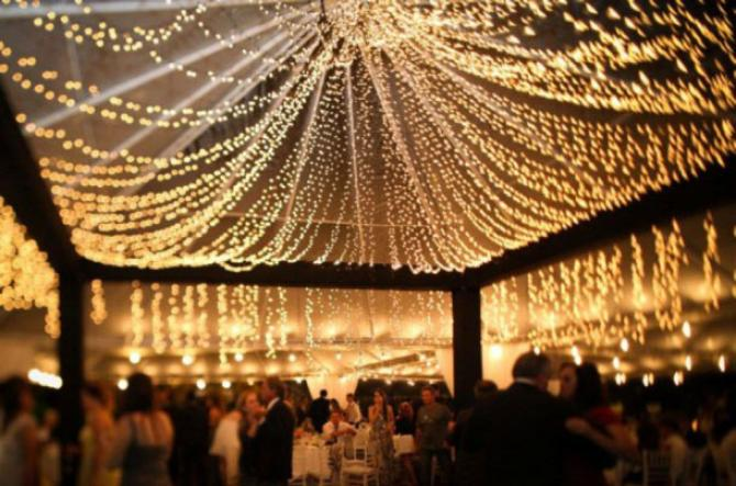 Ideas to decorate your wedding venue using fairy lights and have a fairy light wedding decor junglespirit Image collections