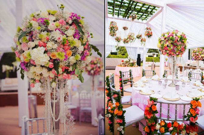 How to use flowers in your wedding decor bollywoodshaadis unique ways to use flowers for wedding decor junglespirit Gallery