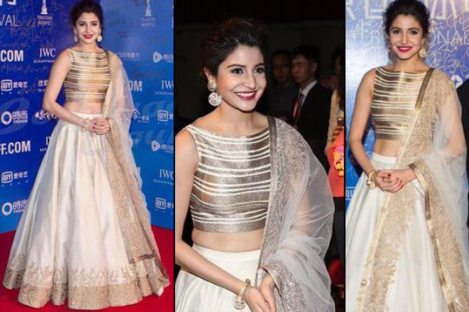 Style Inspiration Jaw Dropping Traditional Looks Of Anushka Sharma