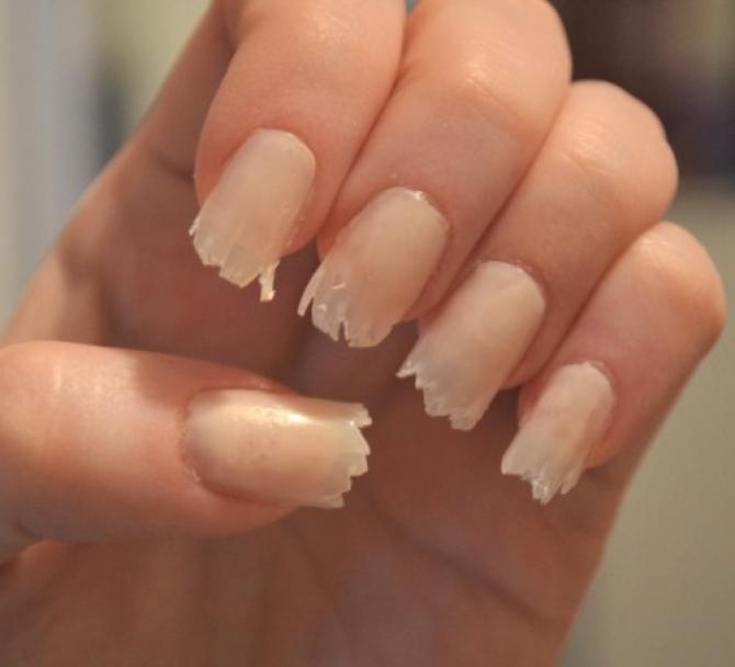 image Beautiful orange long nails