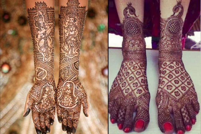 10 best bridal mehendi design combos for your hands and