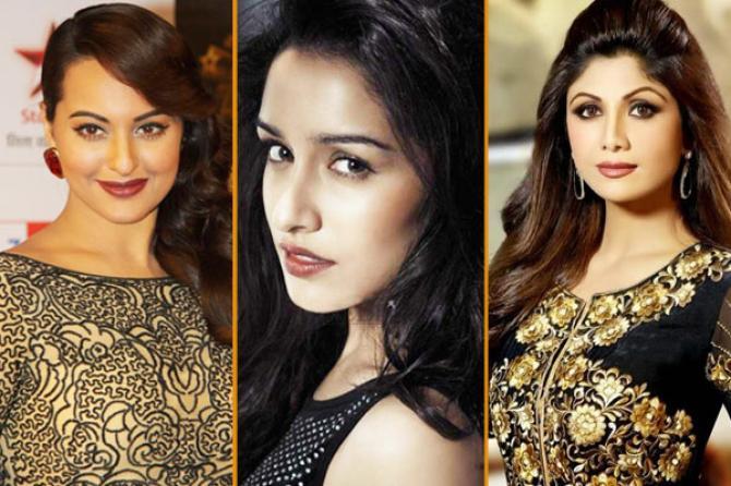 Sonakshi Sinha, Shraddha Kapoor and Shilpa Shetty