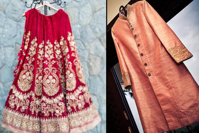 Image Courtesy: Jodi Clickers (left) and The Wedding Story (right)