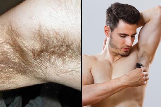 Guys with hairy armpits