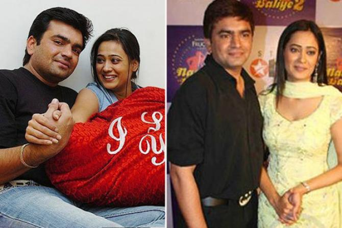Popular indian tv actresses who got married a second time shweta tiwari with ex husband raja chaudhary voltagebd Images