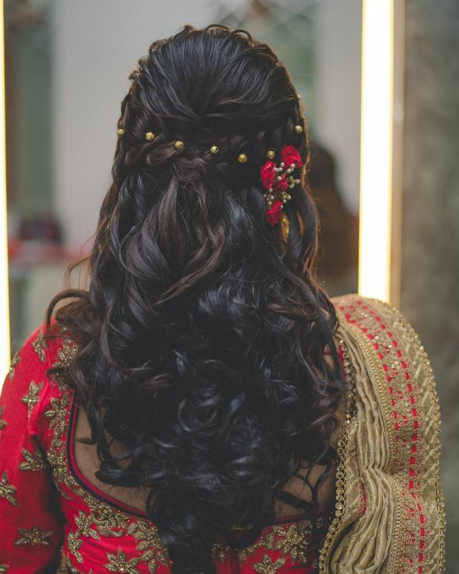 Girl Hairstyles Wedding: 8 Ways In Which A Bride Can Rock It With Open Hairstyles