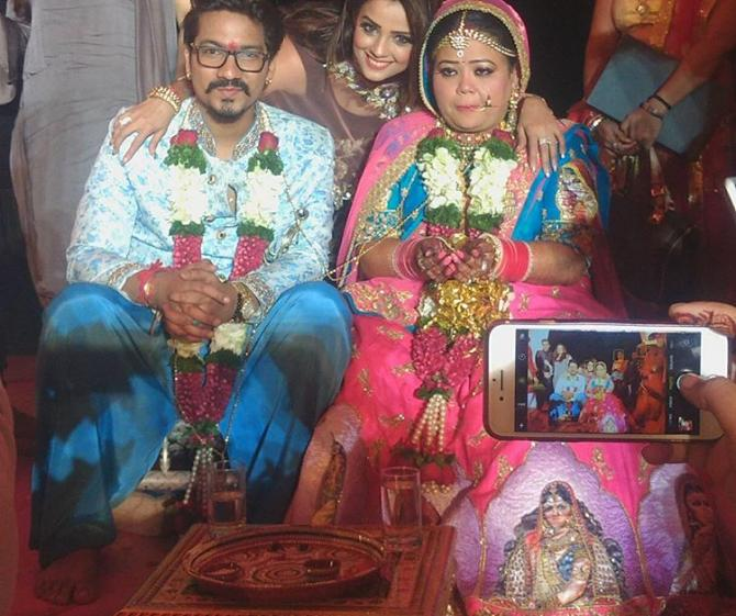 Haarsh Singh Limbachiyaa Reception Pictures Bharti And