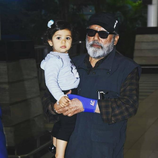 Misha Kapoor and Pankaj Kapur