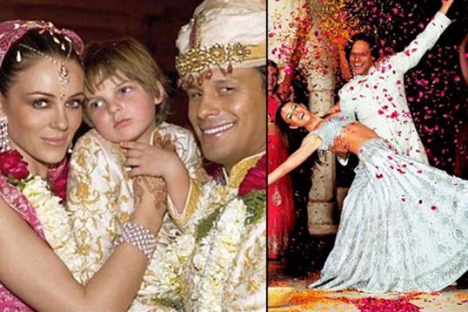 Elizabeth Hurley And Arun Nayar Indian Wedding