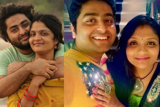 Arijit Singh with wife Koel Roy
