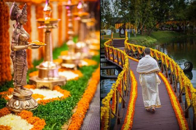 10 wedding decor ideas for the main entrance of the wedding venue if you want to opt for simple yet stylish entryway decor then the all time classic flower bed decor you can use any coloured flower or colour coordinate junglespirit Image collections