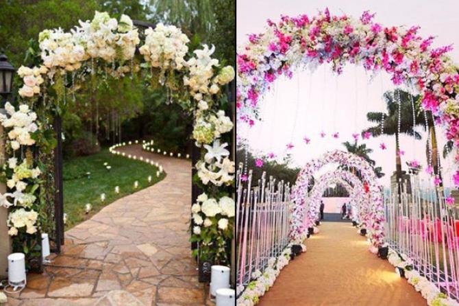 10 wedding decor ideas for the main entrance of the wedding venue are you looking for a royal yet elegant walkway decor then archway entrance should be your pick one of the best things about archway is that you can junglespirit Choice Image