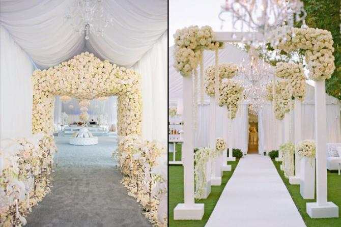 10 wedding decor ideas for the main entrance of the wedding venue imagine flowers drapes and a chandelier along with ityou have a sophisticated entrance decor you can even use some hangings to make the decor more junglespirit Image collections