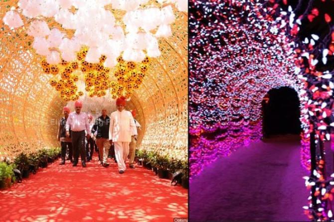10 wedding decor ideas for the main entrance of the wedding venue tunnel decor junglespirit Image collections