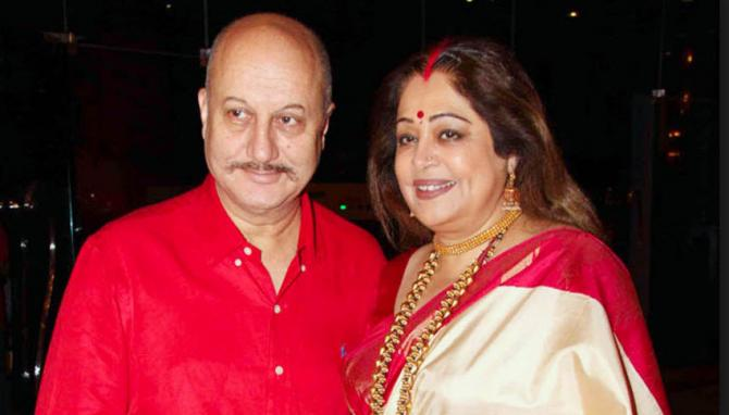 Image result for Anupam Kher and Kirron Kher