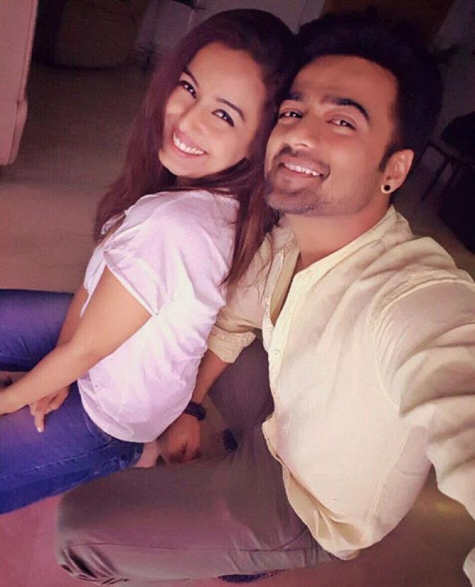 Srishty Rode with ex fiancee Manish Naggdev