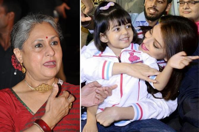 Aishwarya Rai Bachchan and Jaya Bachchan