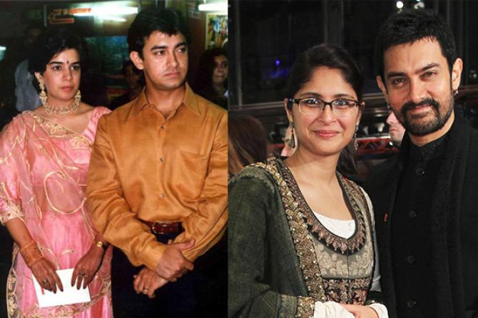 Aamir Khan, Reena Dutta and Kiran Rao