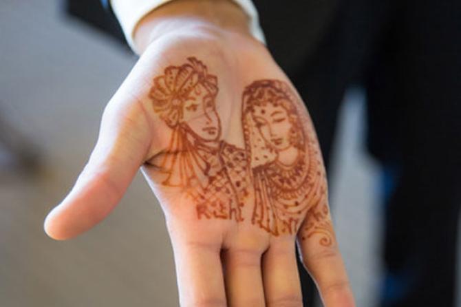 Mehndi Ideas For Groom : Minimal mehendi designs for grooms to surprise their beautiful