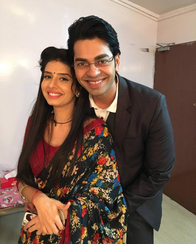 Charu Asopa and Neeraj Malviya