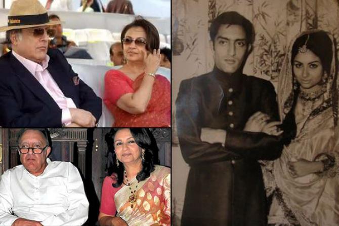 Mansoor Ali Khan Pataudi and Sharmilla Tagore