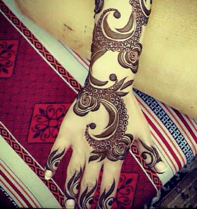 Mughal mehendi designs