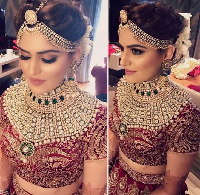 Wedding Hairstyle Jewellery: Real Brides Flaunting Striking And Royal Kundan Jewellery