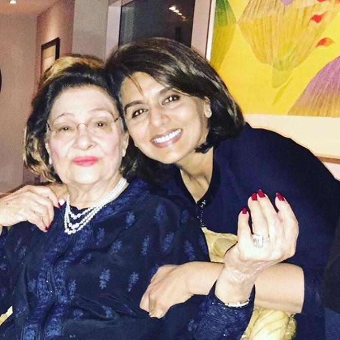 Neetu Kapoor and Krishna Raj Kapoor
