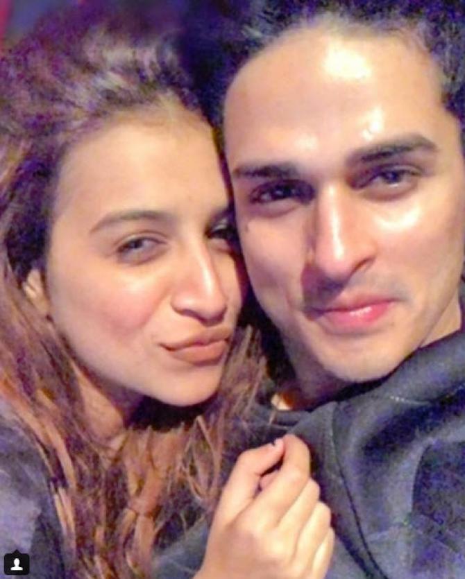 Priyank sharma birthday wish for benafsha soonawalla is way too cute