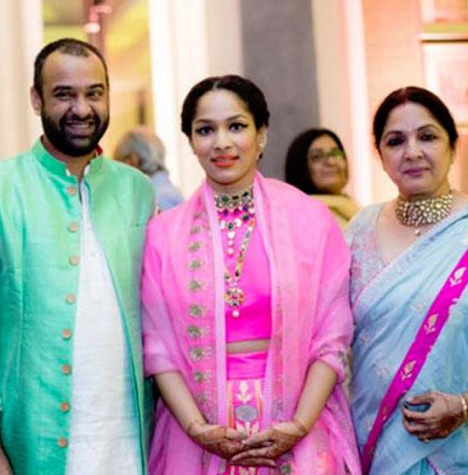 Masaba Gupta, Neena Gupta and Madhu Mantena