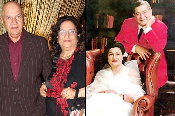 Prem Chopra and Raj Kapoor