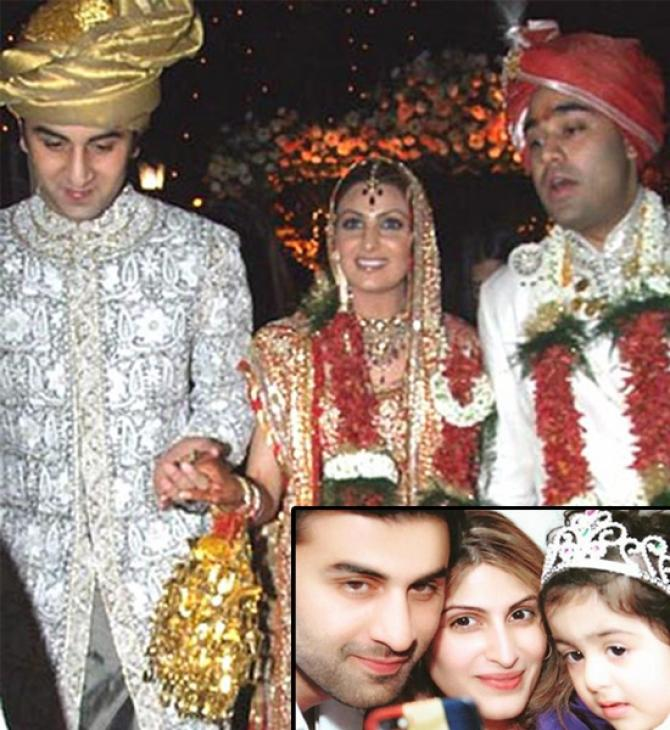 Ranbir Kapoor at Riddhima Kapoor's wedding