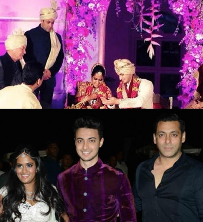 Salman Khan at Arpita Khan's wedding
