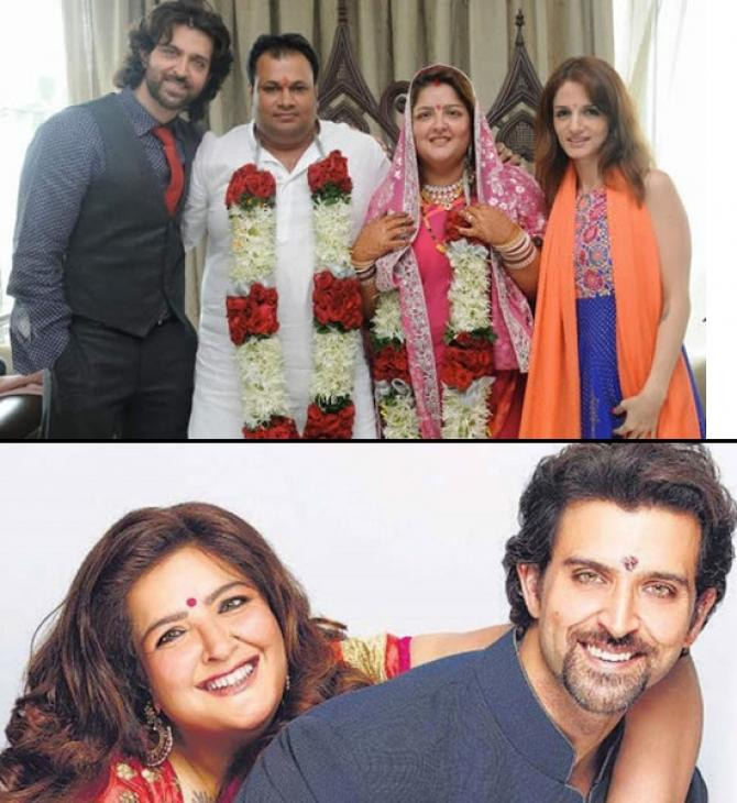 Hrithik Roshan at Sunaina Roshan's wedding