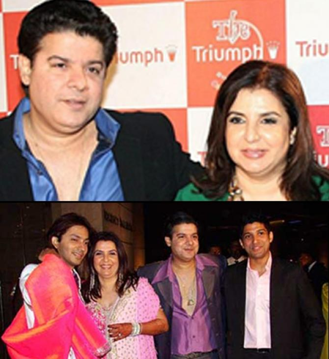 Sajid Khan at Farah Khan's wedding