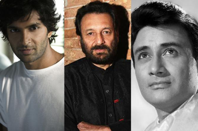 Purab Kohli, Shekhar Kapur and Dev Anand