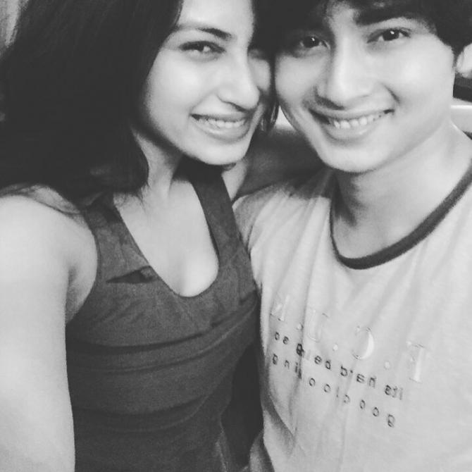 Mouni and Mukhar Roy