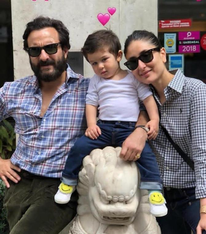 Taimur with parents Saif and Kareena