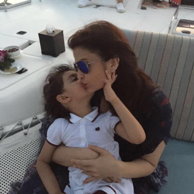 Aishwarya Rai Bachchan and Aaradhya Bachchan