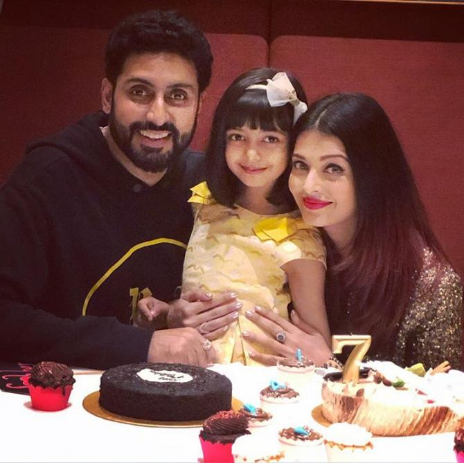 Abhishek Bachchan, Aishwarya Rai Bachchan and Aaradhya Bachchan